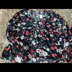 american eagle floral baby doll shirt